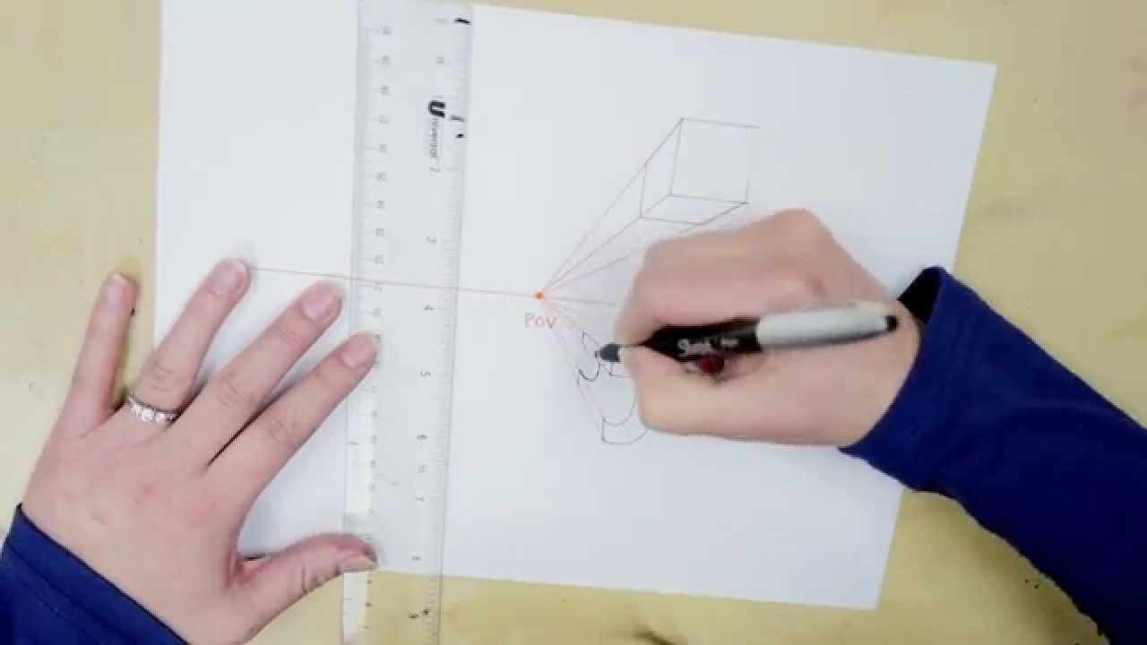 Drawing in 1 Point Perspective: Quick Art Tutorial for Beginners