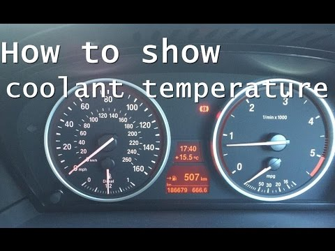How to check engine coolant temperature BMW E60 E61 5 ...