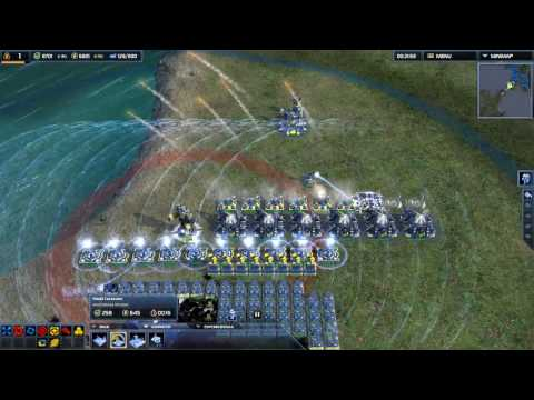 Supreme Commander 2 - Trolling With Defense WALL