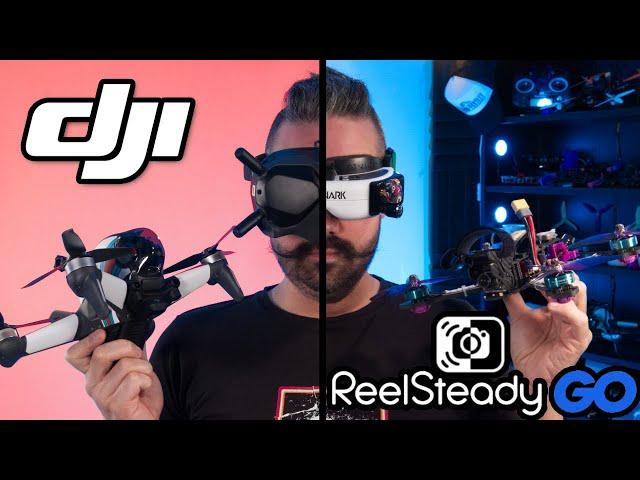 DJI FPV   Comparaison de stabilisation (GoPro Hero 9 / Reelsteady GO)