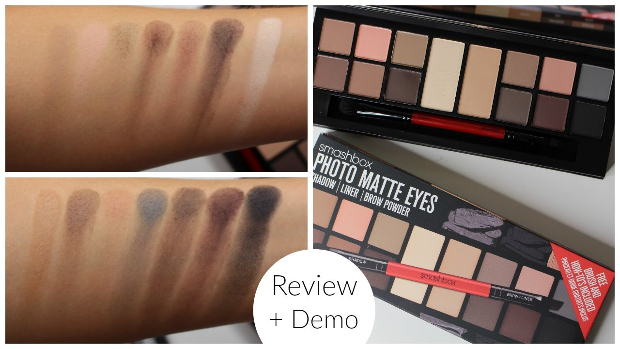 Smashbox Photo Matte Eyes Palette Review Bailey B Youtube