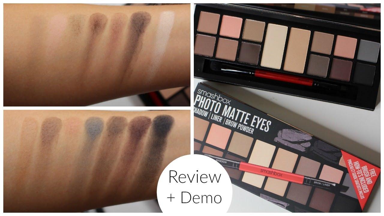 Smashbox Photo Matte Eyes Palette Review Bailey B Youtube