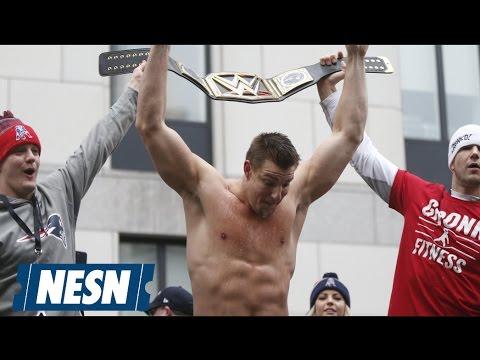 Rob Gronkowski Makes His Wrestling Debut At WrestleMania