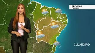 Previsão Nordeste - Mais chuva para o litoral