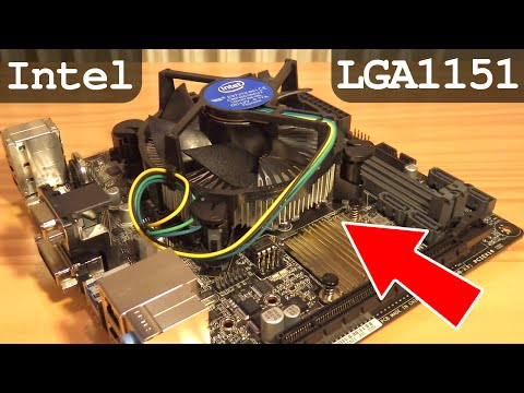How To Install CPU Intel LGA1151 and Fan - i3 6100