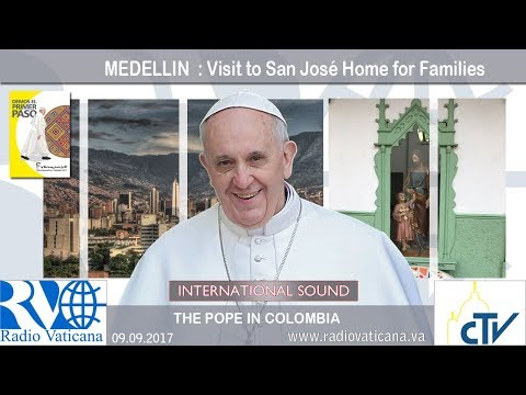 2017.09.09 - Pope Francis in Colombia - Visit to San José Home for Families
