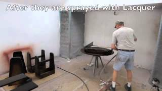The Rock Ola Shuffleboard Table: Applying The Finish Sd