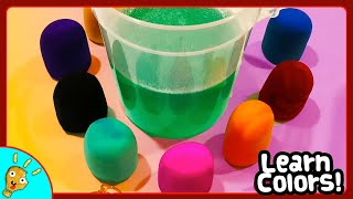 Learn SURPRISE ANIMALS in Green Bubble Bucket by Squishee Nugget