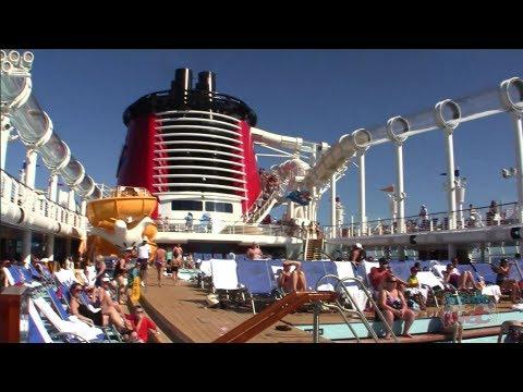 Disney Fantasy Deck 11 tour - AquaDuck, Pools, Nemo's Reef, Cabanas, Arcade, Quiet Cove