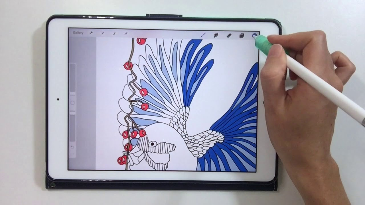 How To Color Adult Coloring Book Pages On Your Ipad Make Your Own Coloring Pages In Procreate Youtube