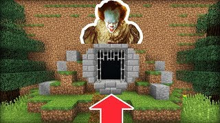 "Minecraft: How To Make Pennywises Hidden Sewer Base! ""IT Hidden Base"""