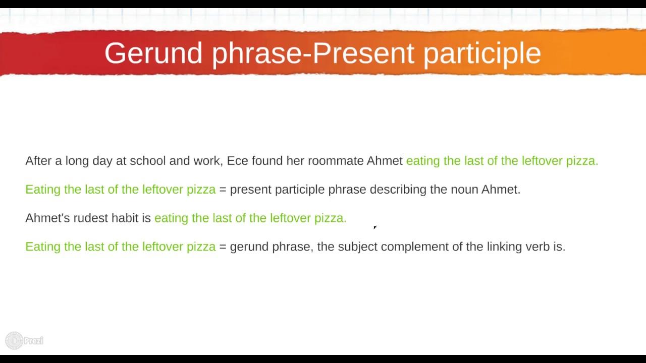 168 Gerund Phrase vs P...