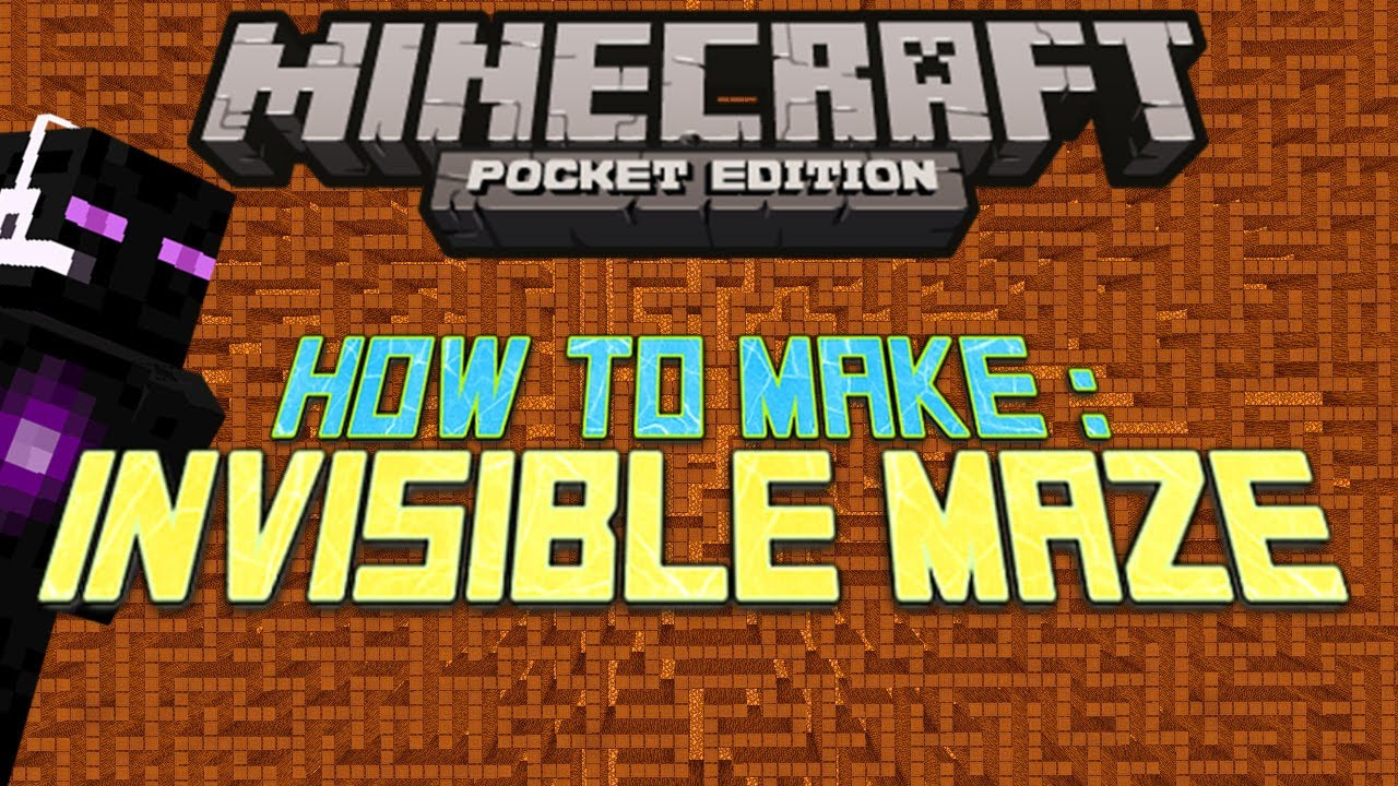 How to make an Invisible Maze - Minecraft PE! - YouTube