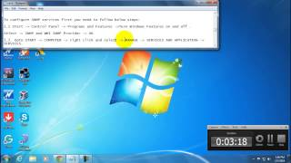 How to install and configure snmp in windows 7