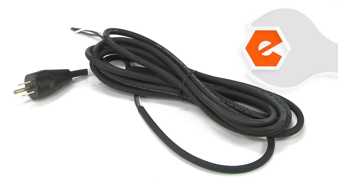 Scroll Saw Repair - Replacing the Power Cord (DeWALT Part # 36485-98 ...