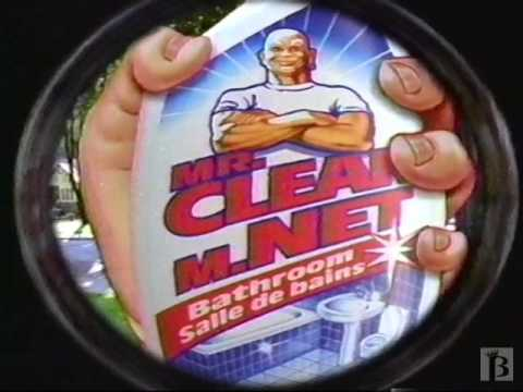 NEW Mr Clean Bathroom Spray Commercial 1997  YouTube
