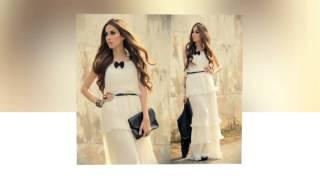 아름다운 흰색 쉬폰 드레스 패턴 깨끗한 순도