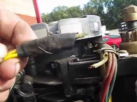 Wiring A Boat Trailer Diagram Mtd Lawn Mower Carburetor Normal Older Mercury Outboard Youtube