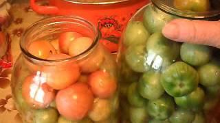 Засолка зеленых томатов с горчицей