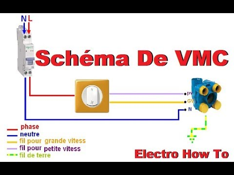 Schema Electrique De La Vmc 2 Vitesses Branchemant Youtube