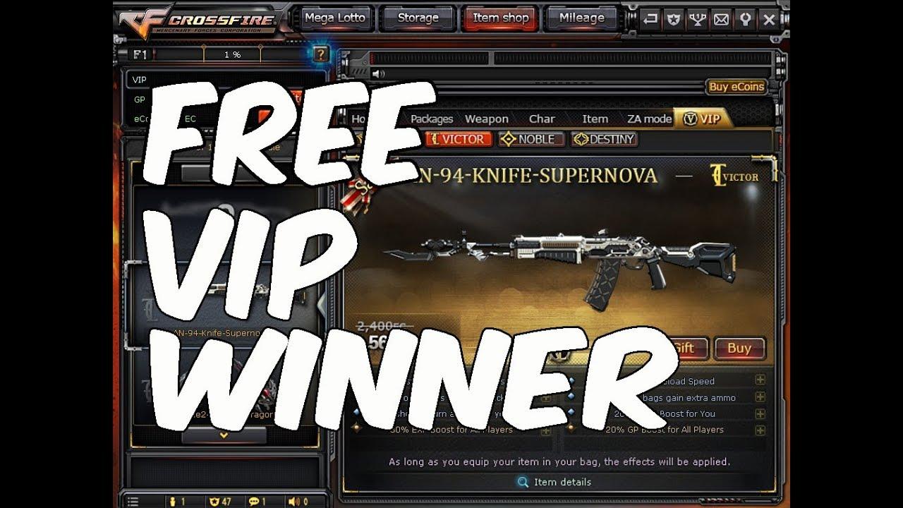 1st Free VIP Winner Harvey D  Salazar
