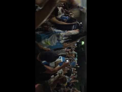Argentina vs Panama 5-0 fans celebrating outside solider field stadium, Chicago, IL.
