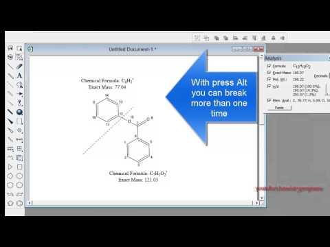 ChemDraw tutorial 14  Mass Fragmentation Tool
