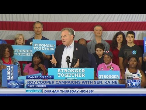 Dem VP candidate Tim Kaine appears in NC