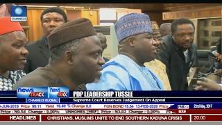 PDP Leadership Tussle: Supreme Court Reserves Judgement On Appeal