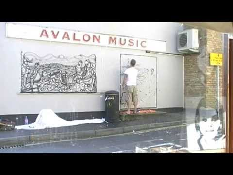 Artist Russell Scott- Skinner (BBC feature and press feature about Avalon Mural 04/07/2011).avi