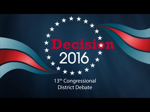 2016 13th Congressional District Debate