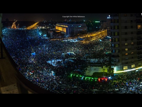 Romanian protests Bucharest 1 February