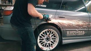 SUBARU LEGACY SHOW CAR BUILD EP 2 // Cutting the car apart!