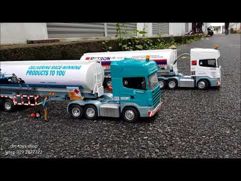 scania petron tanker and petronas tanker home made scale 1/18