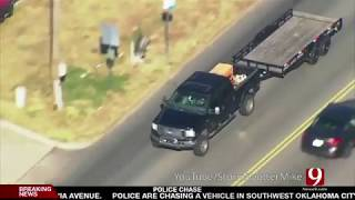 Crazy Oklahoma Police Chase 11-10-2017