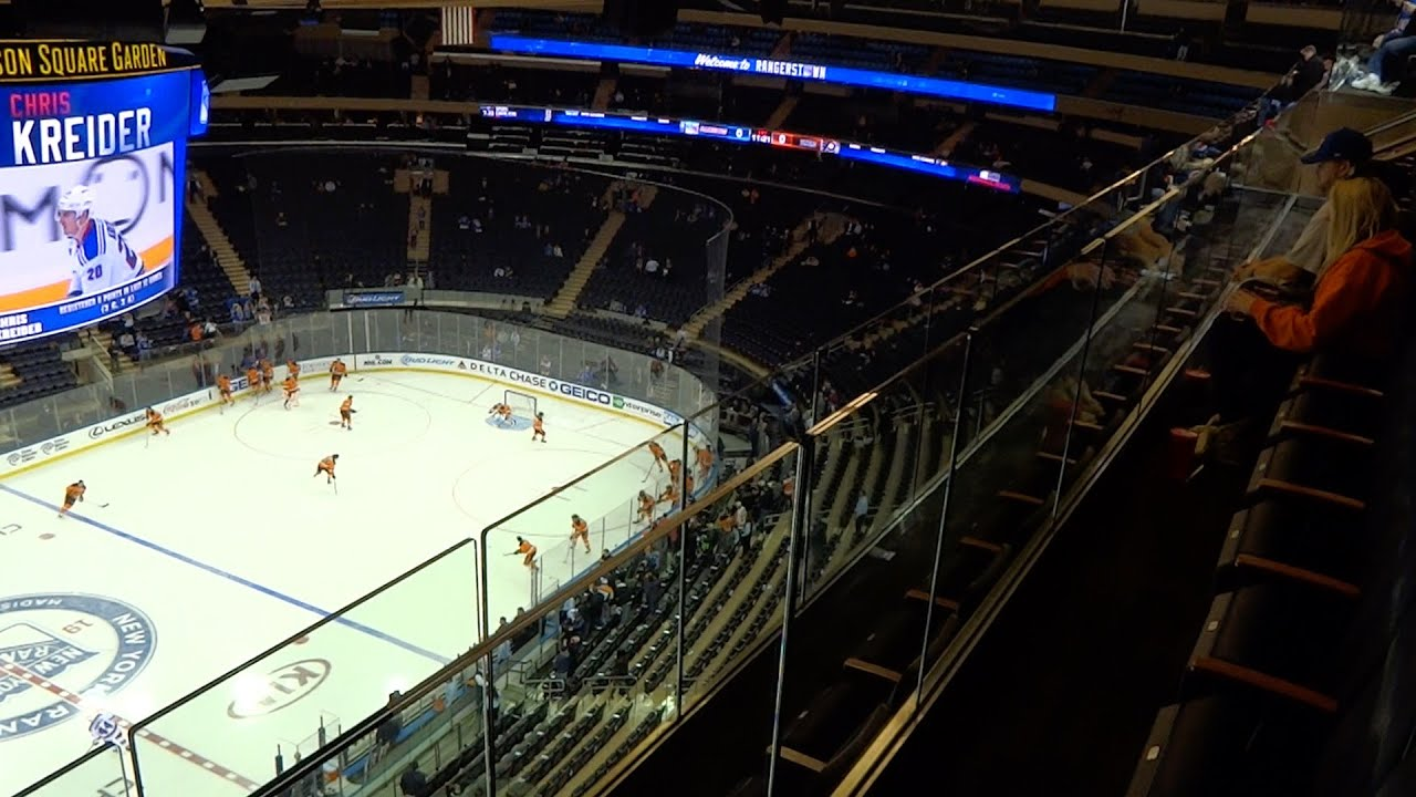 Madison Square Garden Obstructed View Seats Hockey