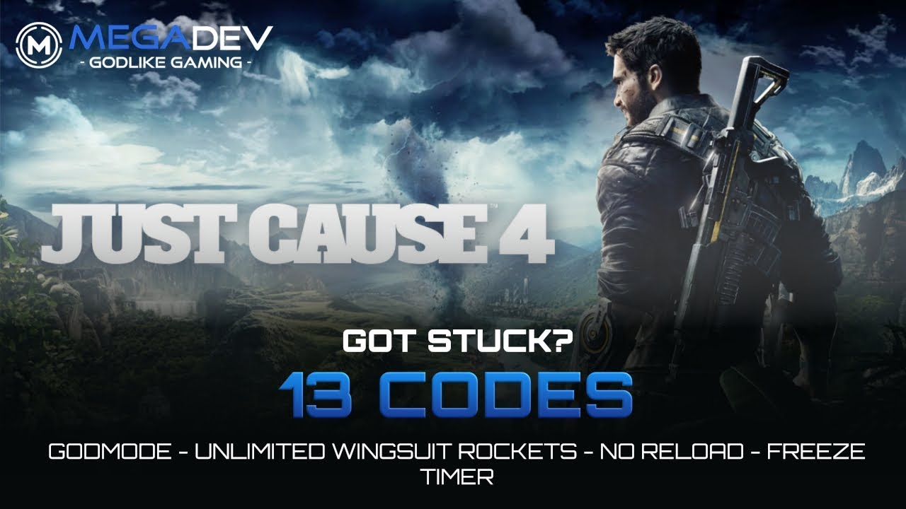 JUST CAUSE 4 CHEATS: Godmode, No Reload, Unlimited Wingsuit-Rockets