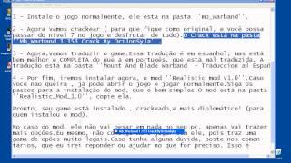 Como instalar Mount & Blade: Warband v 1.168 +  crack + tradução espanhol