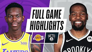 Game Recap: Lakers 126, Nets 101