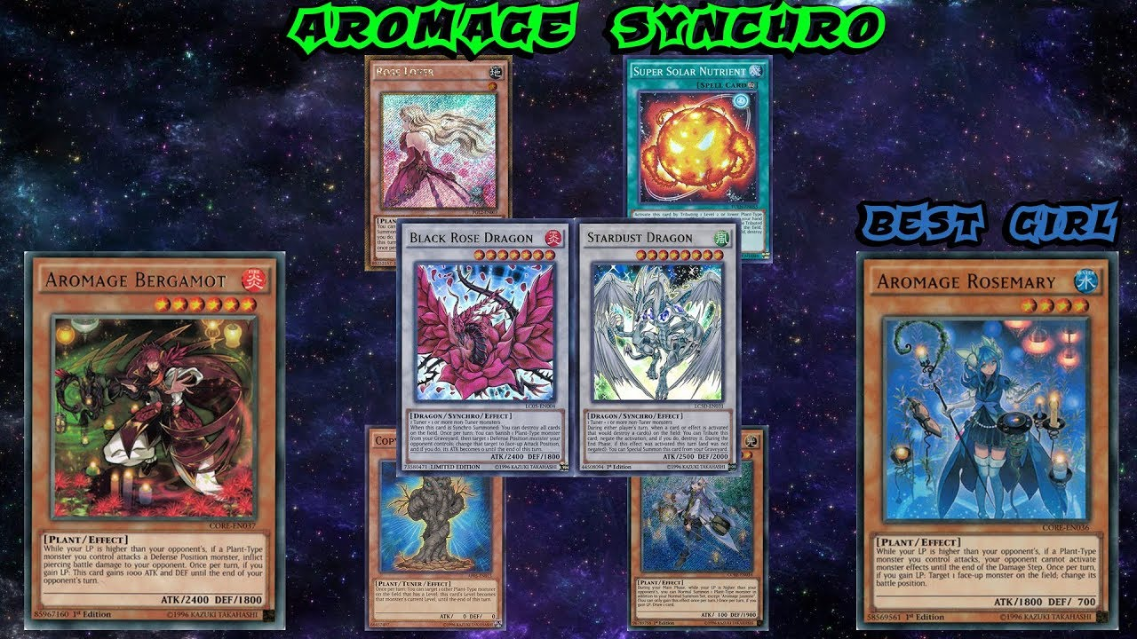 Black Rose Aromage Synchro Best Summon Deck Yu Gi Oh Duel Links