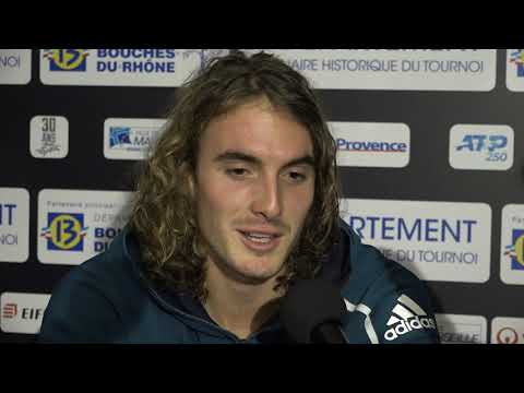 Stefanos Tsitsipas interview after winning Open 13 Marseille trophy