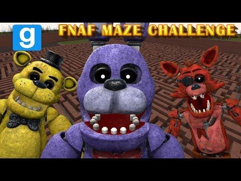 FNAF MORPHS VS MAZE RUNNERS    Five Nights At Freddy's Gmod MAZE CHALLENGE    Zany Gmod #25