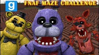 FNAF MORPHS VS MAZE RUNNERS || Five Nights At Freddy's Gmod MAZE CHALLENGE || Zany Gmod #25