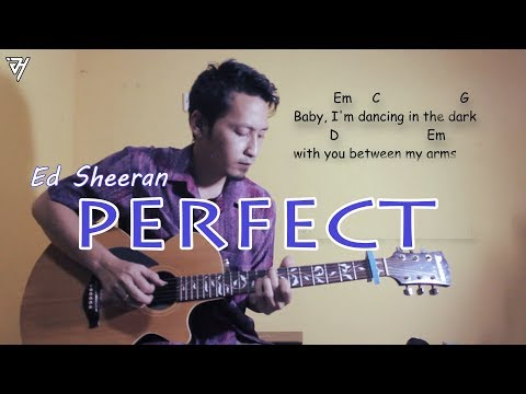 ed sheeran - perfect( lyric , Chord, Guitar) - Cover - Fingerstyle - Java Holig