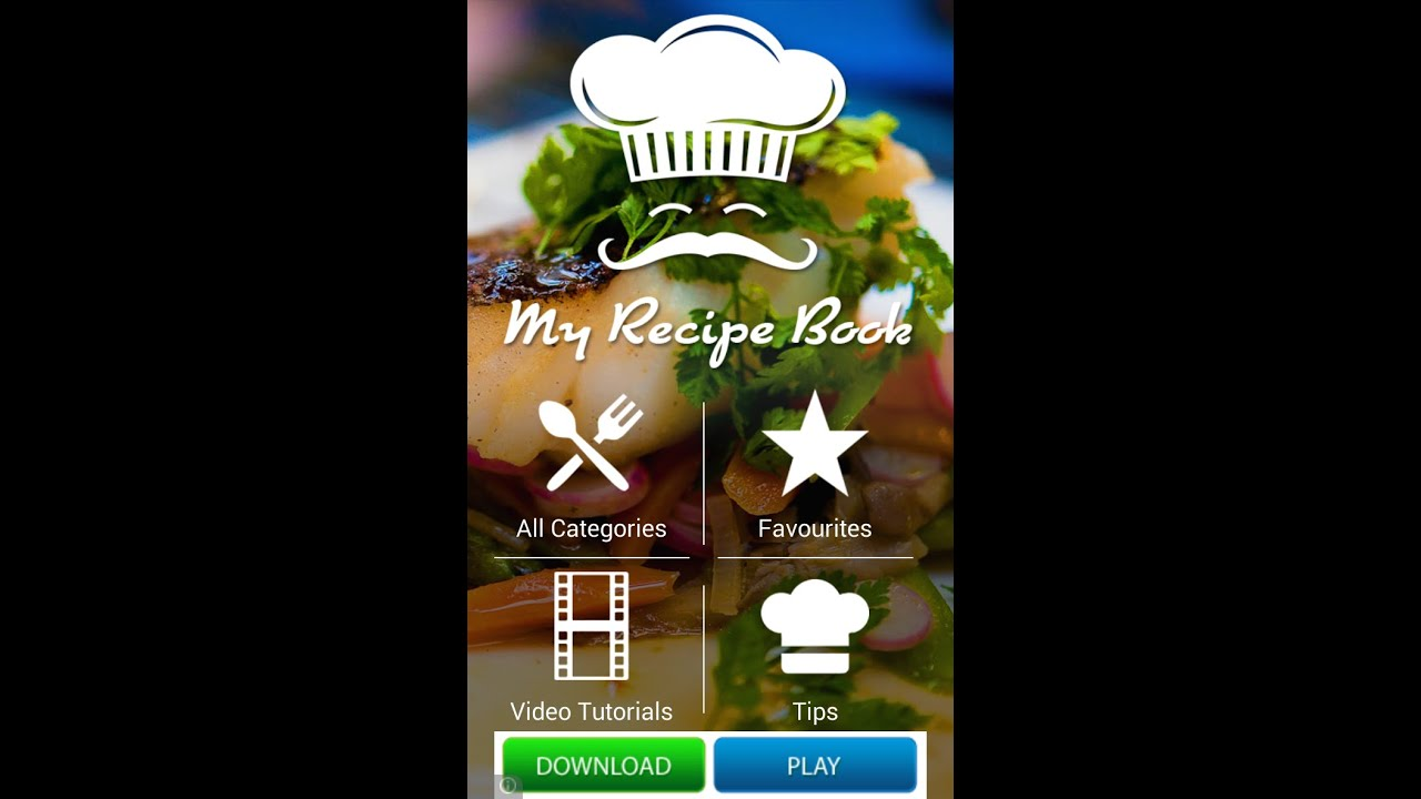 My recipe book android application template navatemplate my recipe book android application template navatemplate youtube forumfinder Image collections