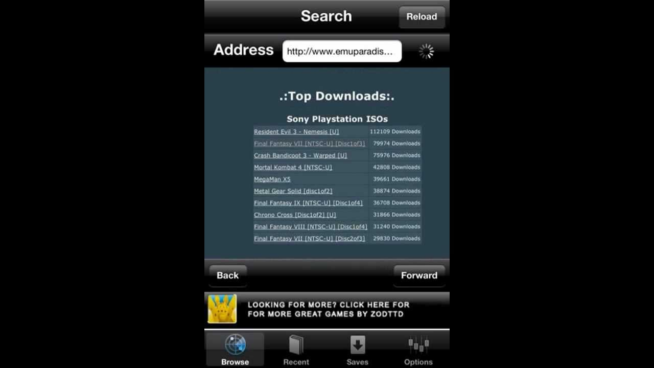 PSX4ALL: How to get Final Fantasy 7 On iPhone or iDevice-Bin ecm-Part 1