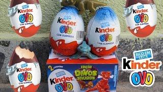 Kinder Ovo Dinossauros - Kinder Surprise Eggs - Huevo Sorpresa - Huevito - Eggs surprise thumbnail