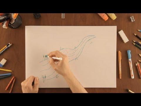 Cmo dibujar un ro  Dibujos de la Naturaleza  YouTube