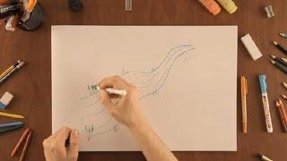 Cómo dibujar un río : Dibujos de la Naturaleza