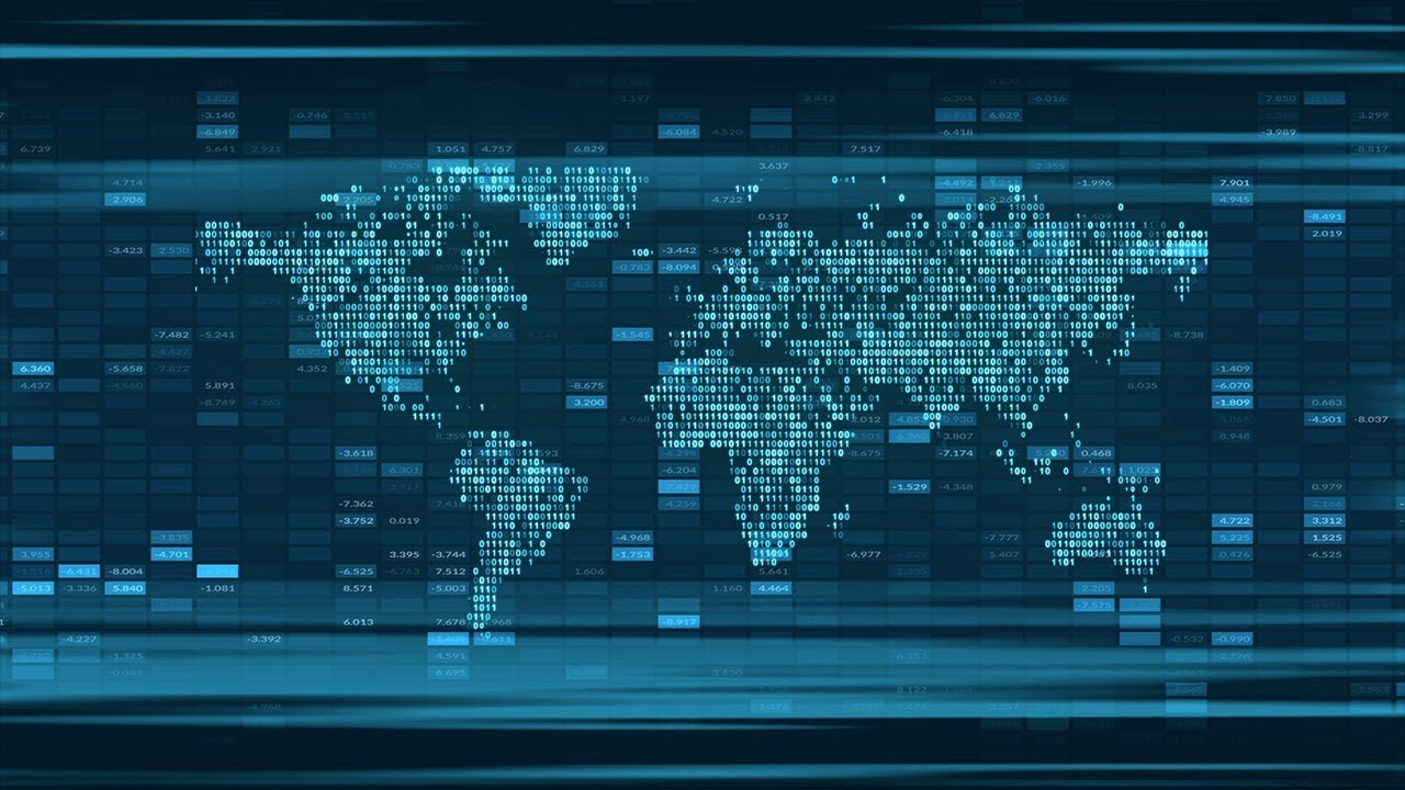 4k world map abstract blue global technology digital background 4k world map abstract blue global technology digital background gumiabroncs Choice Image
